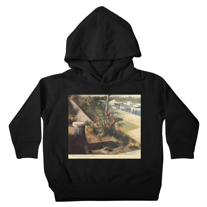 Fall at the Marina Kids Toddler Pullover Hoody by Tobey Finkel's Artist Shop