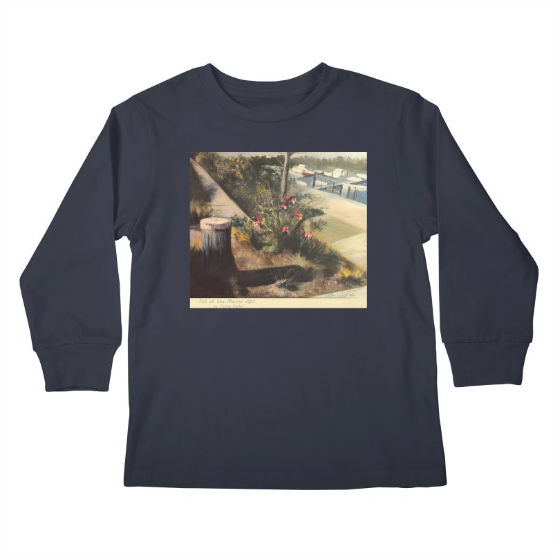 Fall at the Marina Kids Longsleeve T-Shirt by Tobey Finkel's Artist Shop