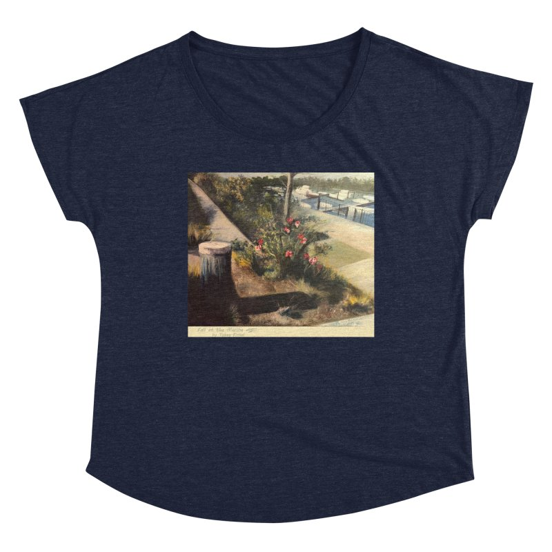 Fall at the Marina Women's Scoop Neck by Tobey Finkel's Artist Shop