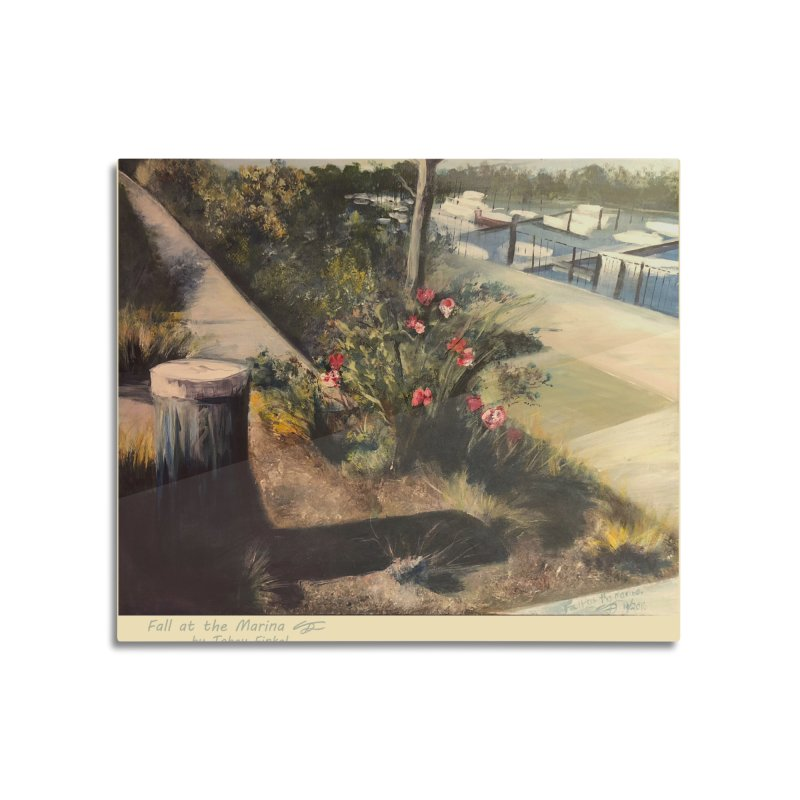 Fall at the Marina Home Mounted Aluminum Print by Tobey Finkel's Artist Shop