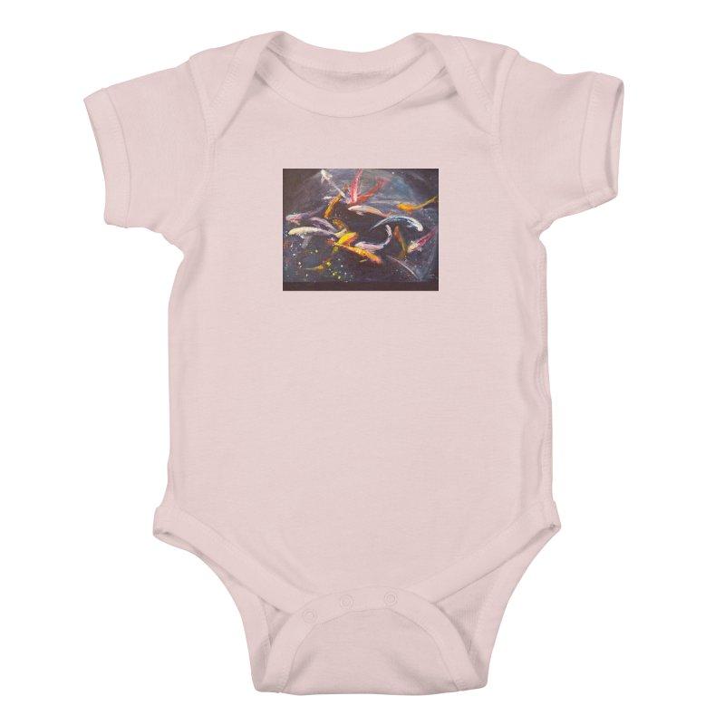 Swim Kids Baby Bodysuit by Tobey Finkel's Artist Shop