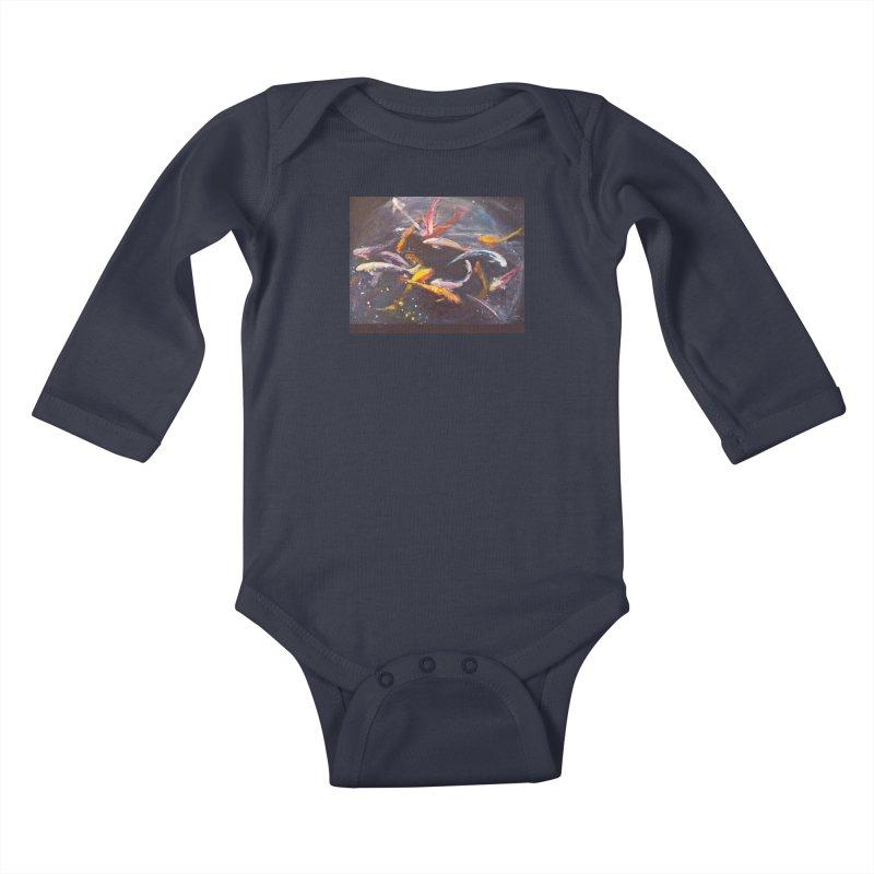 Swim Kids Baby Longsleeve Bodysuit by Tobey Finkel's Artist Shop