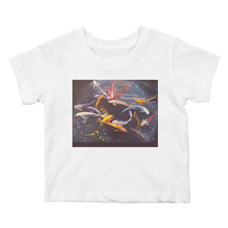 Swim Kids Baby T-Shirt by Tobey Finkel's Artist Shop