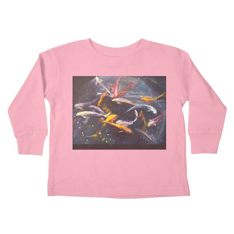 Swim Kids Toddler Longsleeve T-Shirt by Tobey Finkel's Artist Shop
