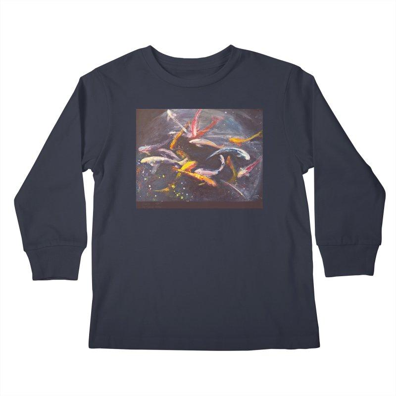 Swim Kids Longsleeve T-Shirt by Tobey Finkel's Artist Shop