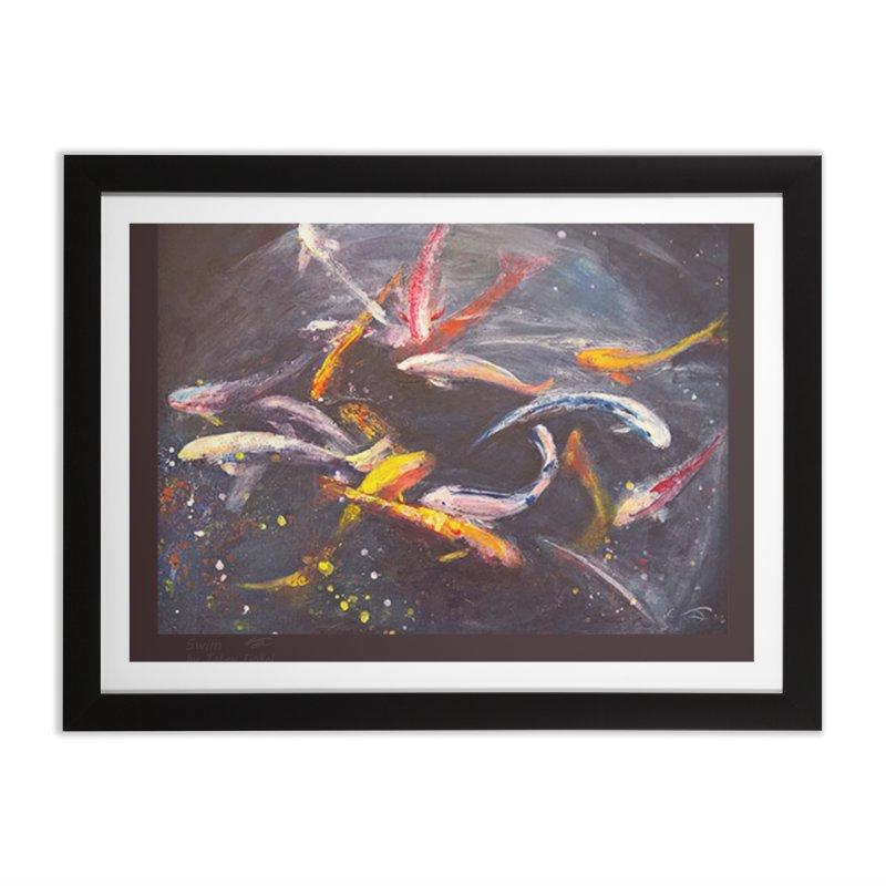 Swim Home Framed Fine Art Print by Tobey Finkel's Artist Shop