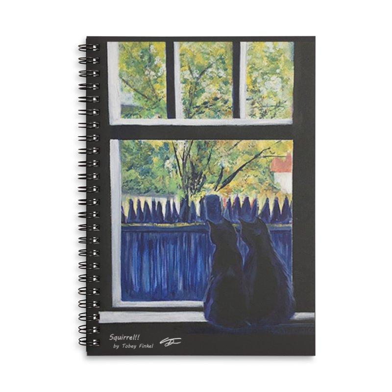 Squirrel!! Accessories Notebook by Tobey Finkel's Artist Shop