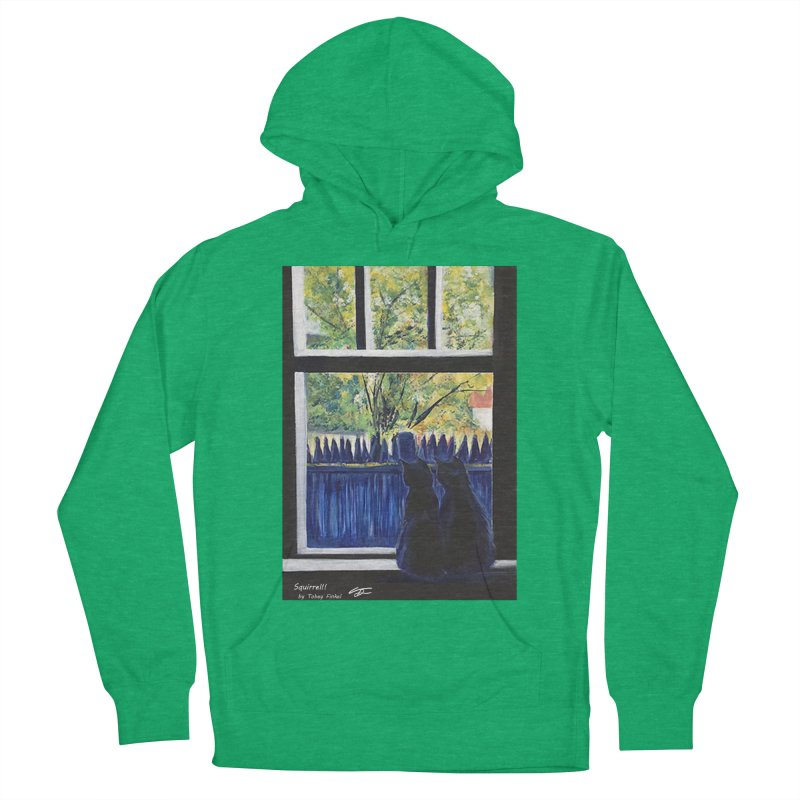 Squirrel!! Women's French Terry Pullover Hoody by Tobey Finkel's Artist Shop