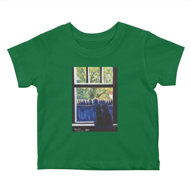 Squirrel!! Kids Baby T-Shirt by Tobey Finkel's Artist Shop