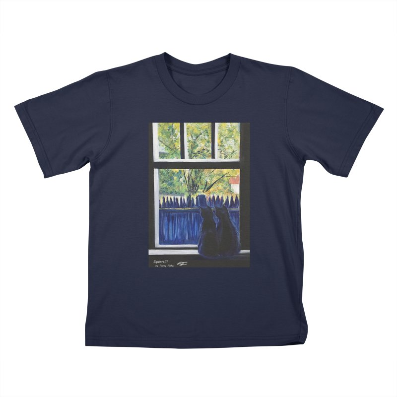 Squirrel!! Kids T-Shirt by Tobey Finkel's Artist Shop
