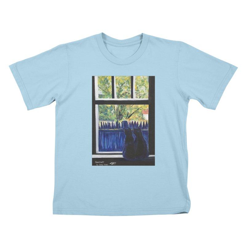Squirrel!! Kids T-Shirt by Tobey Finkel's Artist Shop