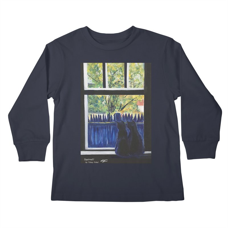 Squirrel!! Kids Longsleeve T-Shirt by Tobey Finkel's Artist Shop