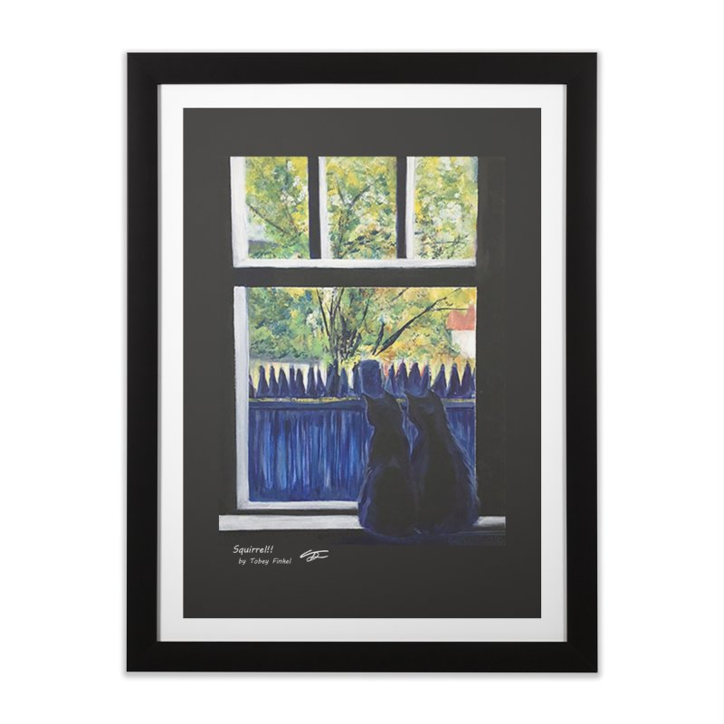 Squirrel!! Home Framed Fine Art Print by Tobey Finkel's Artist Shop