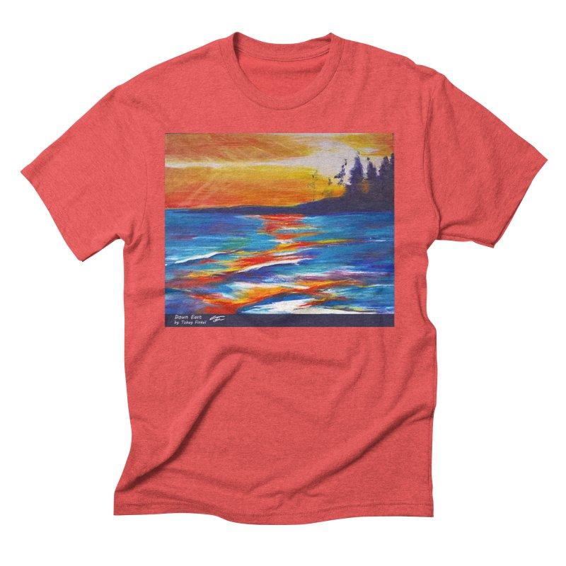 Down East Men's Triblend T-Shirt by Tobey Finkel's Artist Shop