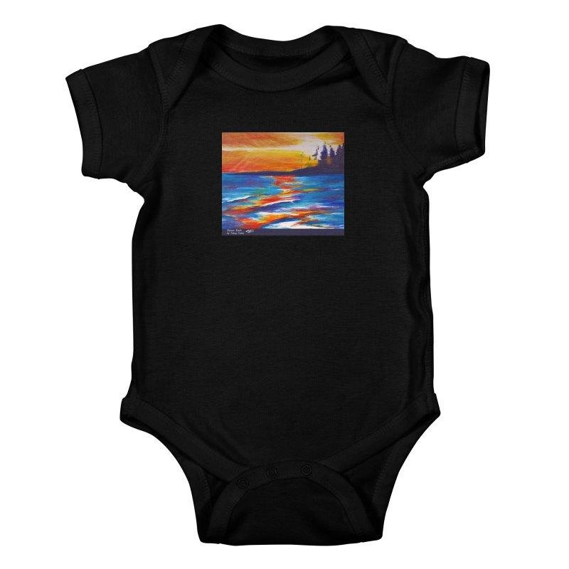 Down East Kids Baby Bodysuit by Tobey Finkel's Artist Shop