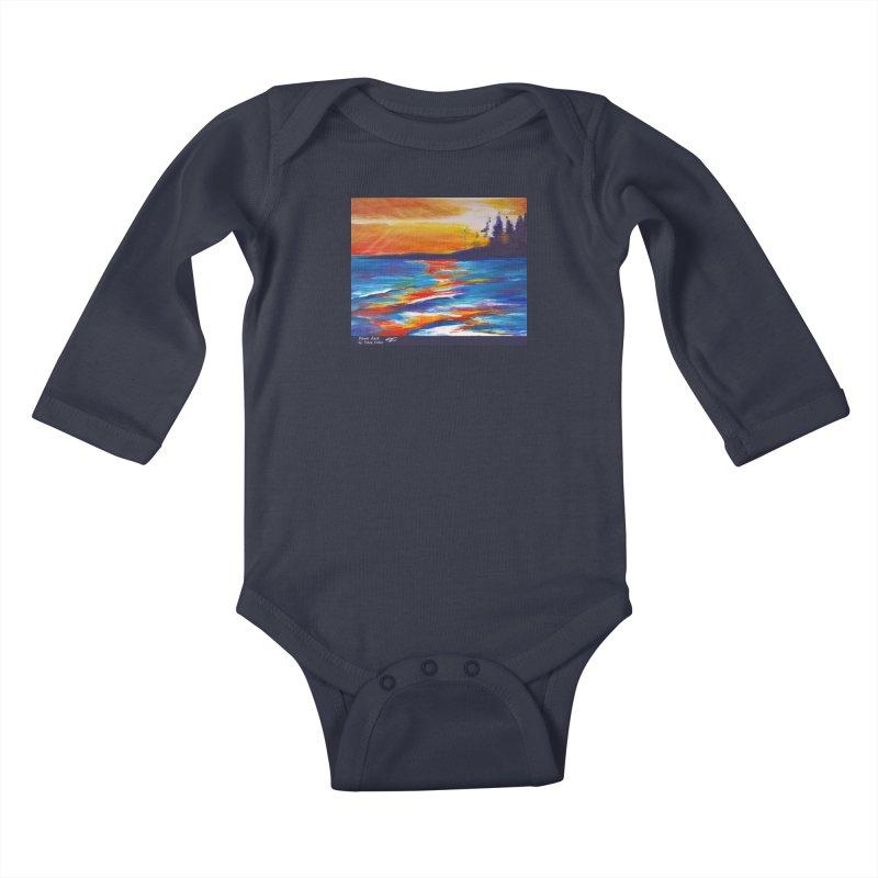 Down East Kids Baby Longsleeve Bodysuit by Tobey Finkel's Artist Shop