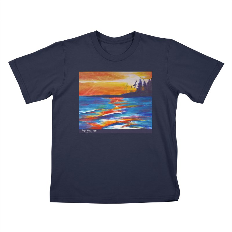 Down East Kids T-Shirt by Tobey Finkel's Artist Shop