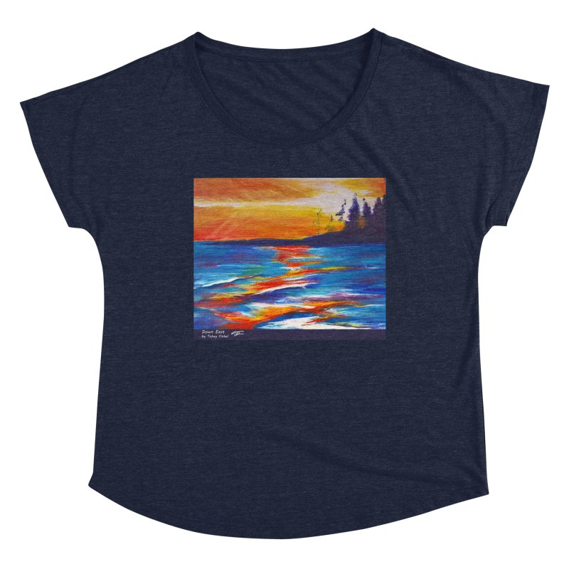 Down East Women's Scoop Neck by Tobey Finkel's Artist Shop