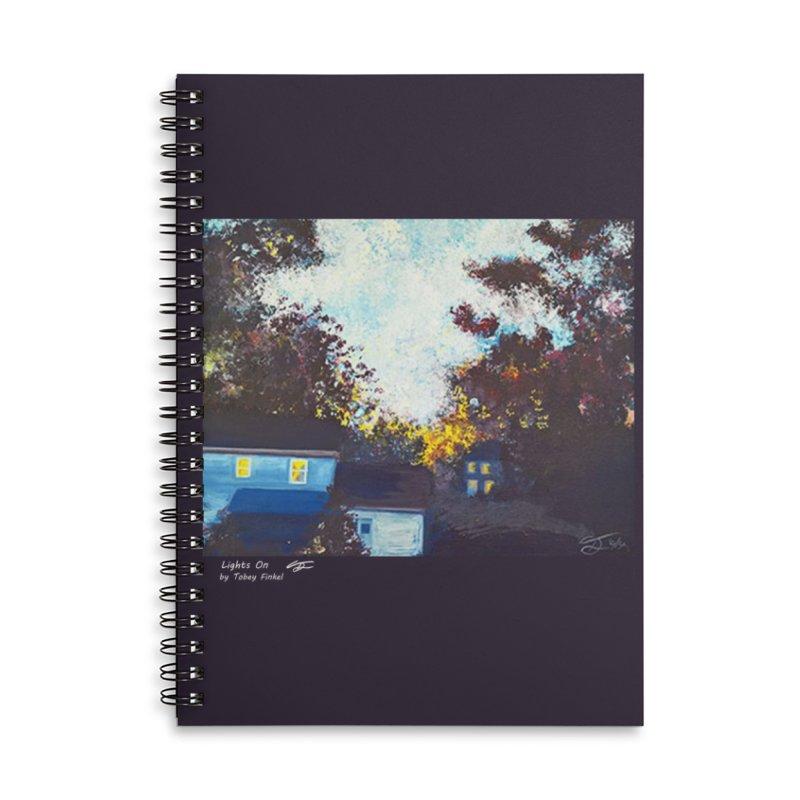 Lights On Accessories Notebook by Tobey Finkel's Artist Shop