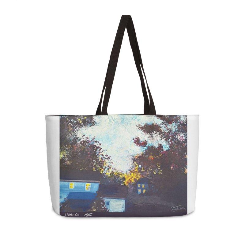 Lights On Accessories Weekender Bag Bag by Tobey Finkel's Artist Shop