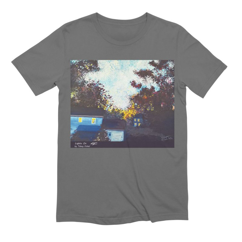 Lights On Men's T-Shirt by Tobey Finkel's Artist Shop