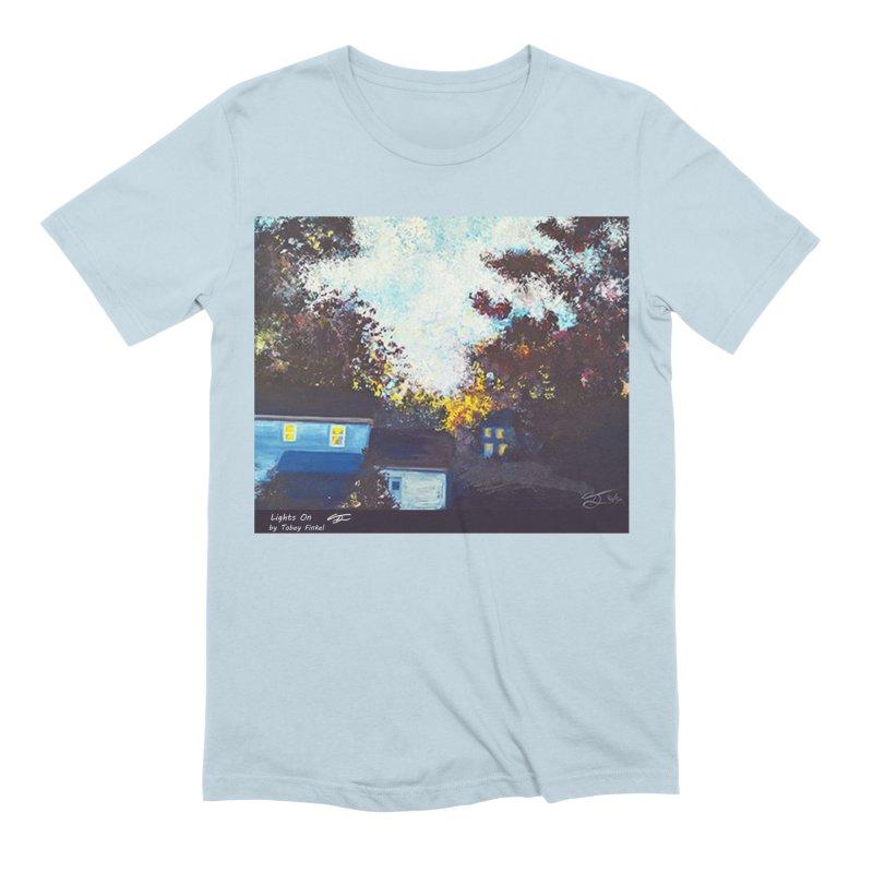 Lights On Men's Extra Soft T-Shirt by Tobey Finkel's Artist Shop