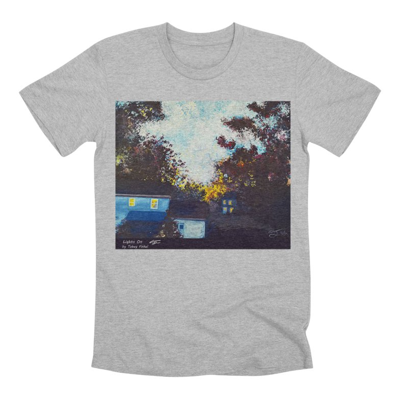 Lights On Men's Premium T-Shirt by Tobey Finkel's Artist Shop