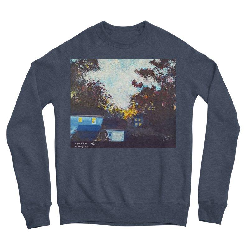 Lights On Women's Sponge Fleece Sweatshirt by Tobey Finkel's Artist Shop