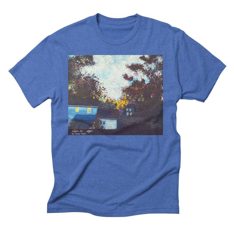 Lights On Men's T-Shirt by Tobey Finkel's Artist Shop