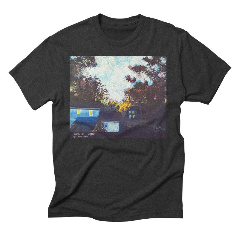 Lights On Men's Triblend T-Shirt by Tobey Finkel's Artist Shop