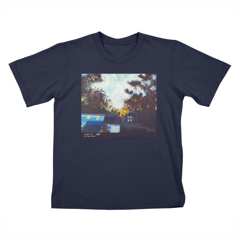 Lights On Kids T-Shirt by Tobey Finkel's Artist Shop