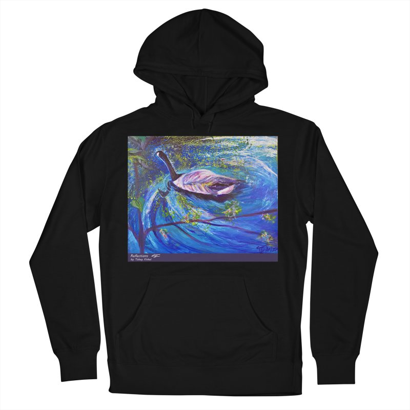 Relections Women's French Terry Pullover Hoody by Tobey Finkel's Artist Shop