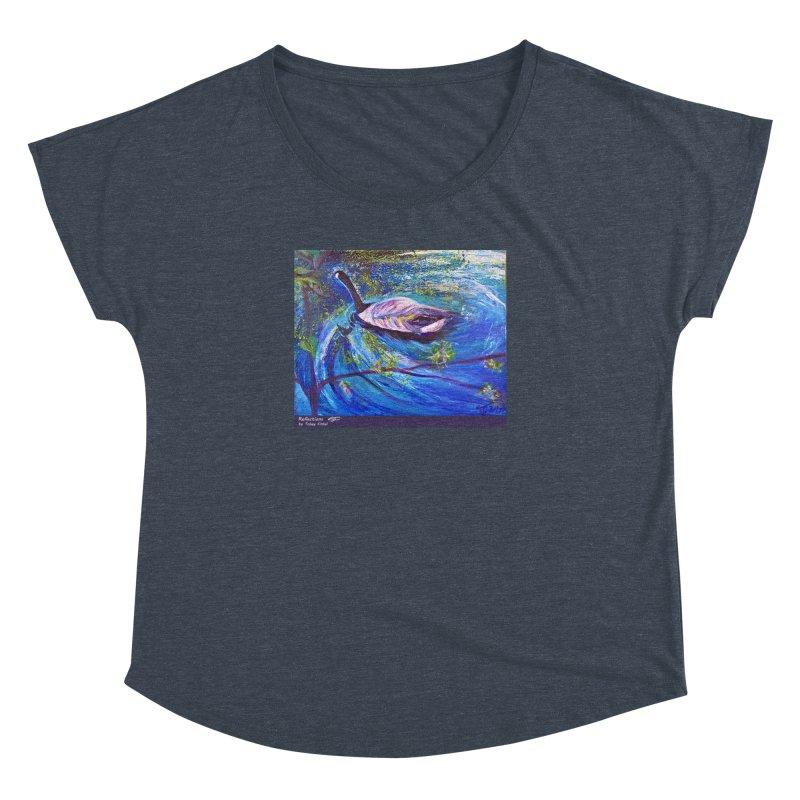 Relections Women's Dolman Scoop Neck by Tobey Finkel's Artist Shop