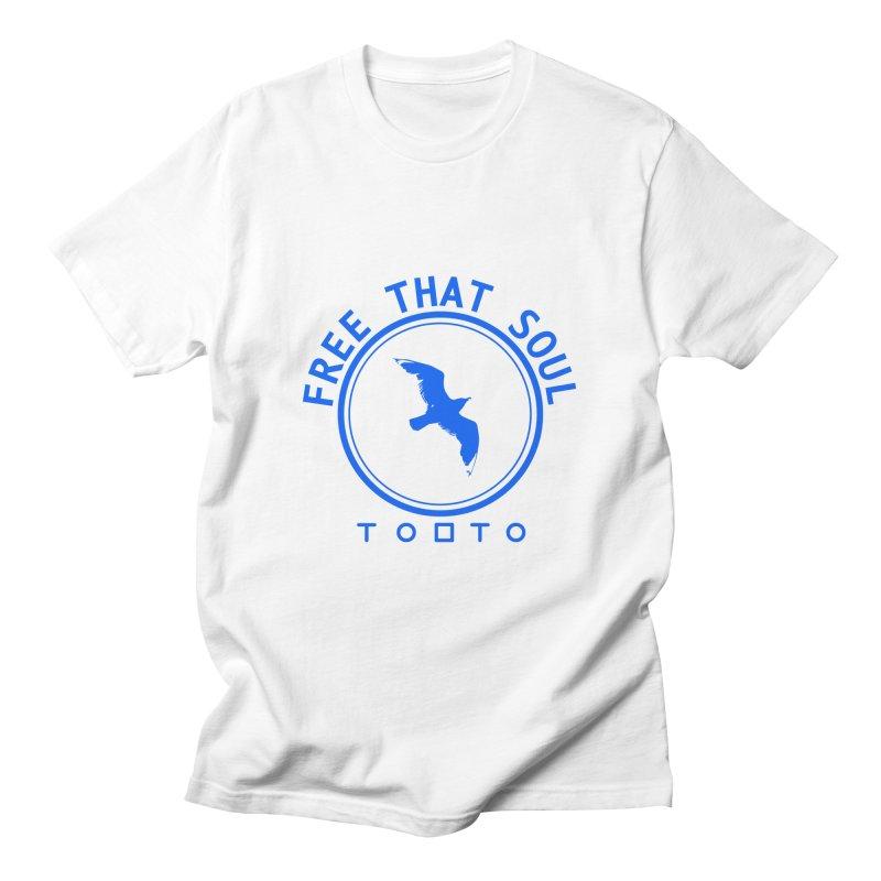 Free That Soul Blue Men's T-Shirt by Tobto Artist Shop