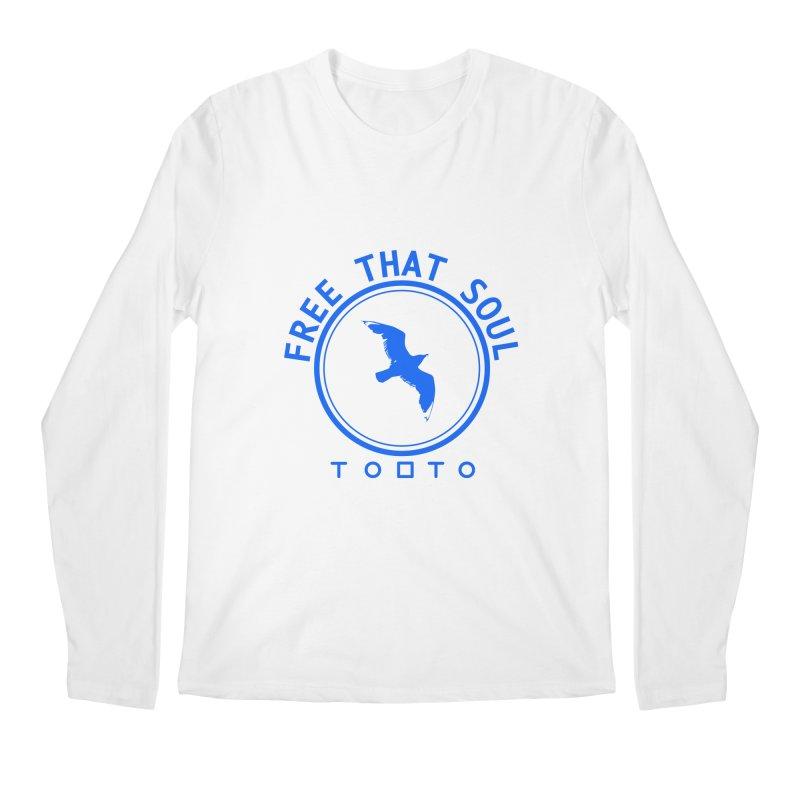 Free That Soul Blue Men's Longsleeve T-Shirt by Tobto Artist Shop