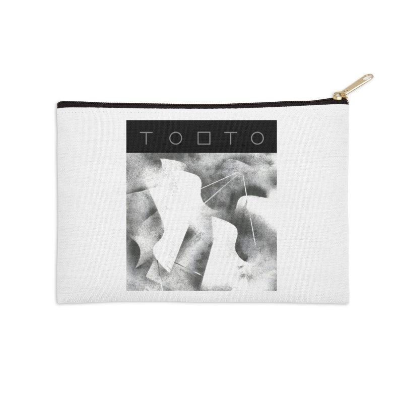 Tobto - pigeons w top black logo Accessories Zip Pouch by Tobto Artist Shop