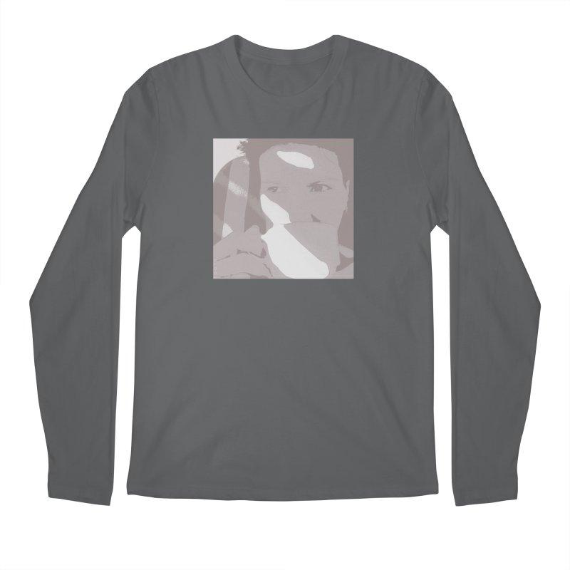 Summer Tea Pale Gray Men's Longsleeve T-Shirt by Tobto Artist Shop