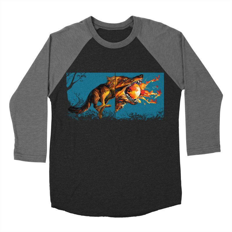 The Wolf Men's Baseball Triblend T-Shirt by Todd Powelson's Artist Shop