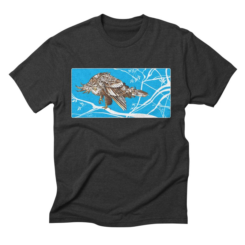 Bird of Prey Men's Triblend T-Shirt by Todd Powelson's Artist Shop