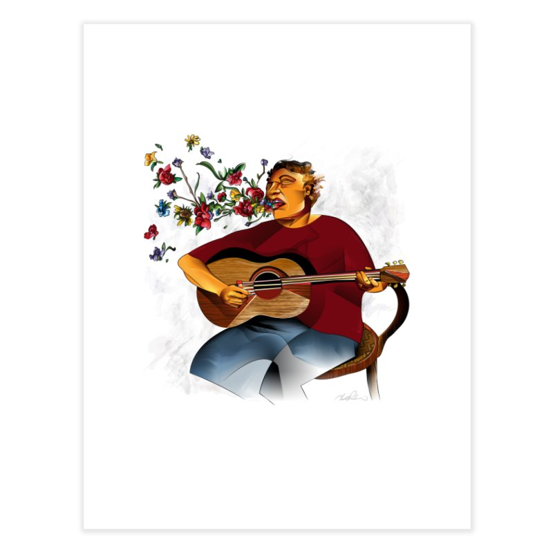 Guitar Home Fine Art Print by Todd Powelson's Artist Shop