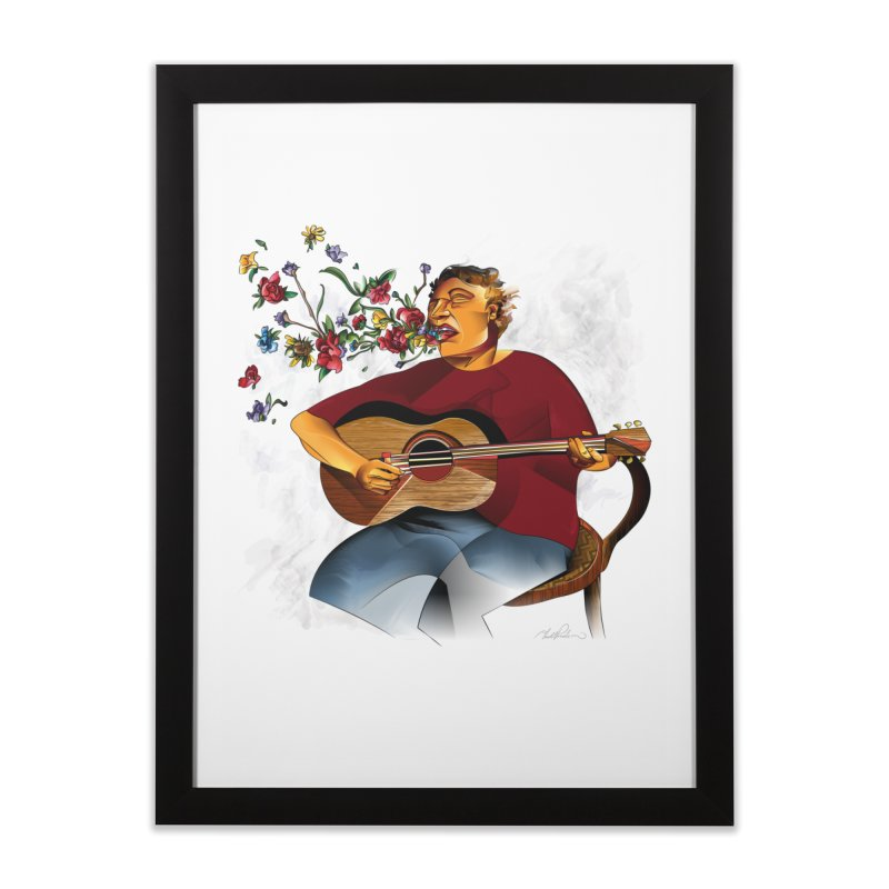 Guitar Home Framed Fine Art Print by Todd Powelson's Artist Shop