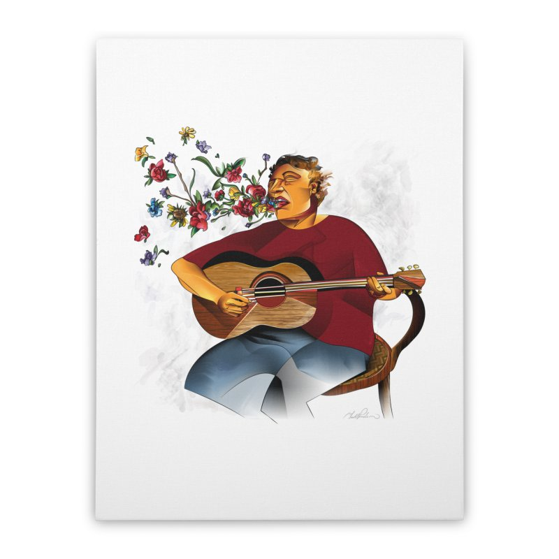 Guitar Home Stretched Canvas by Todd Powelson's Artist Shop