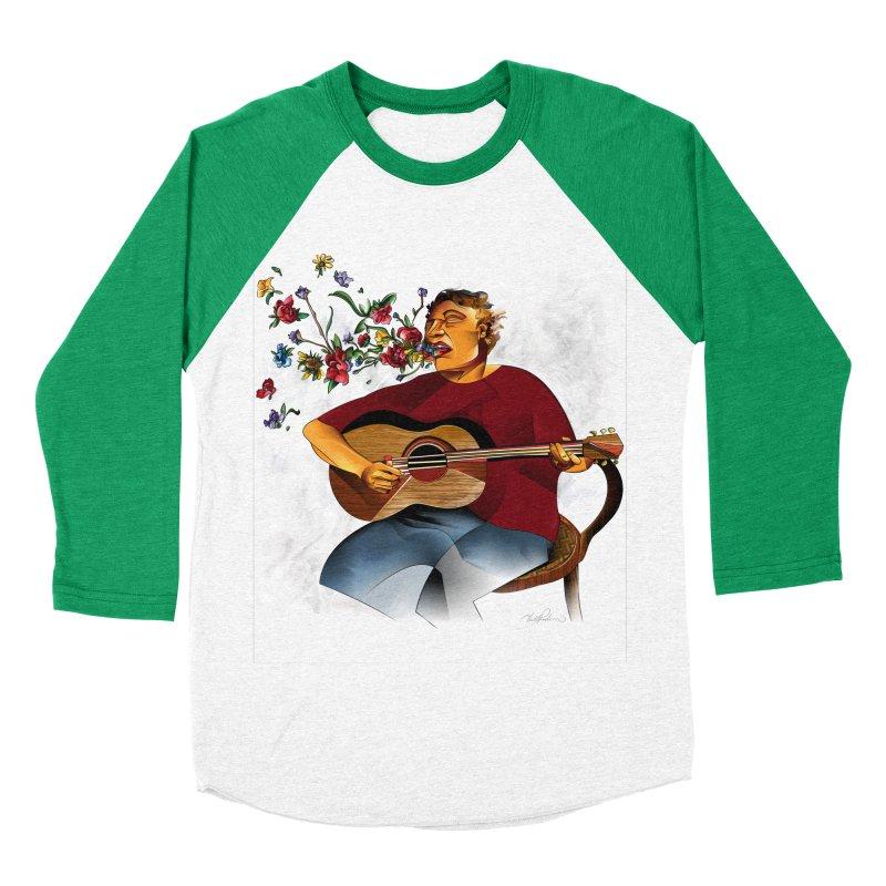 Guitar Women's Baseball Triblend T-Shirt by Todd Powelson's Artist Shop