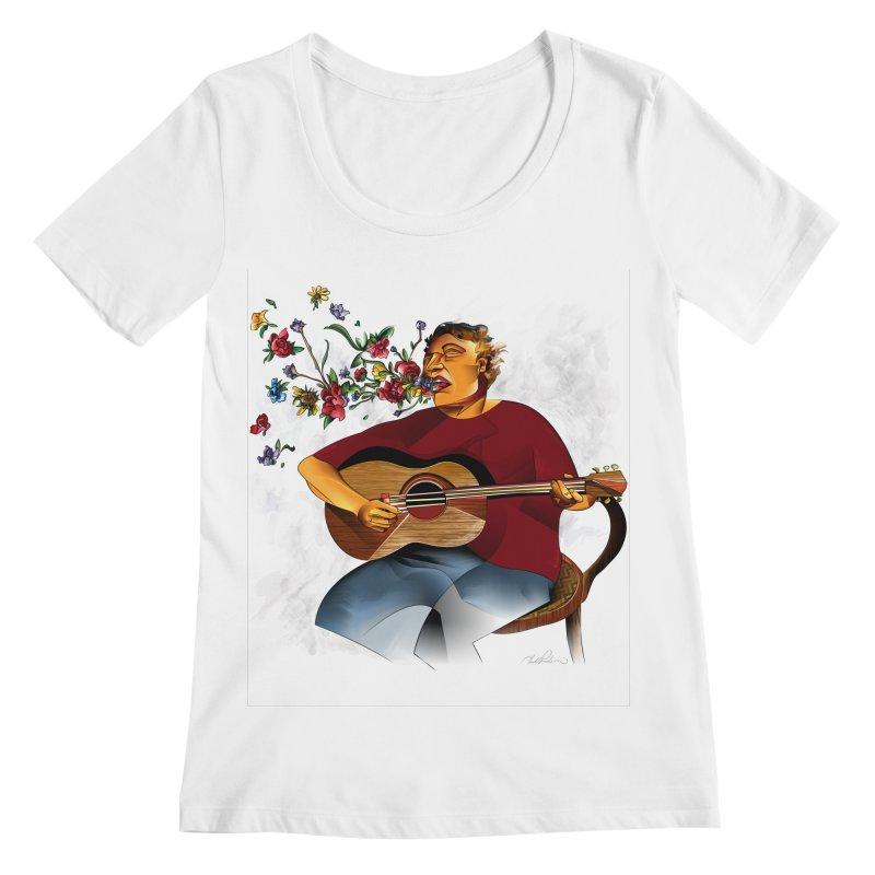 Guitar Women's Scoopneck by Todd Powelson's Artist Shop