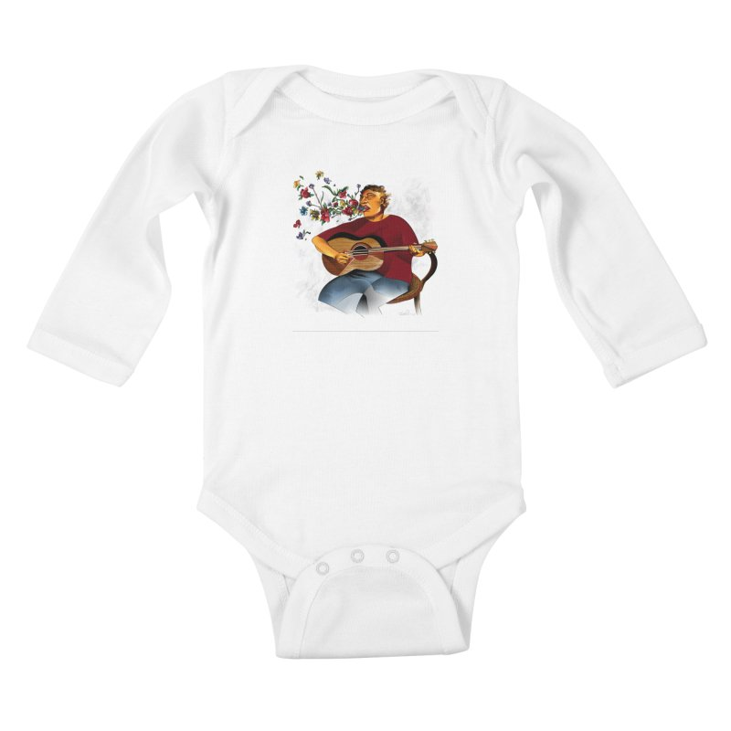 Guitar Kids Baby Longsleeve Bodysuit by Todd Powelson's Artist Shop