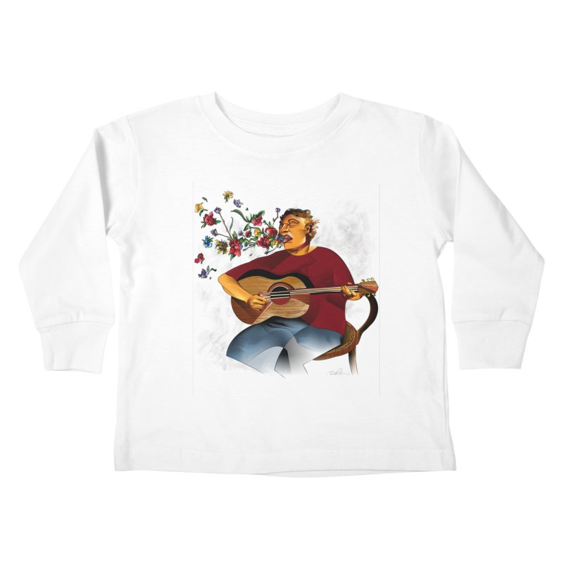 Guitar Kids Toddler Longsleeve T-Shirt by Todd Powelson's Artist Shop