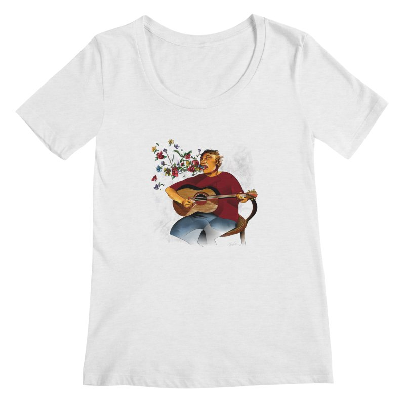 Guitar Women's Scoopneck by Todd Powelson's Artist Shop
