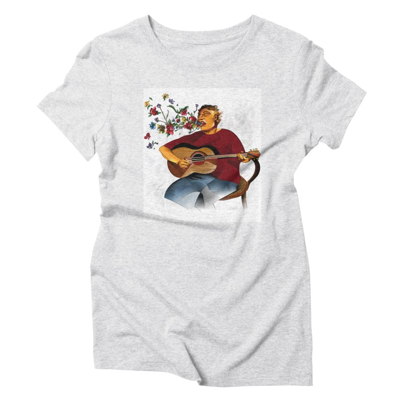 Guitar Women's Triblend T-Shirt by Todd Powelson's Artist Shop
