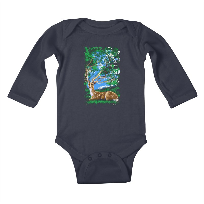 Nature Looks Back At You Kids Baby Longsleeve Bodysuit by Todd Powelson's Artist Shop