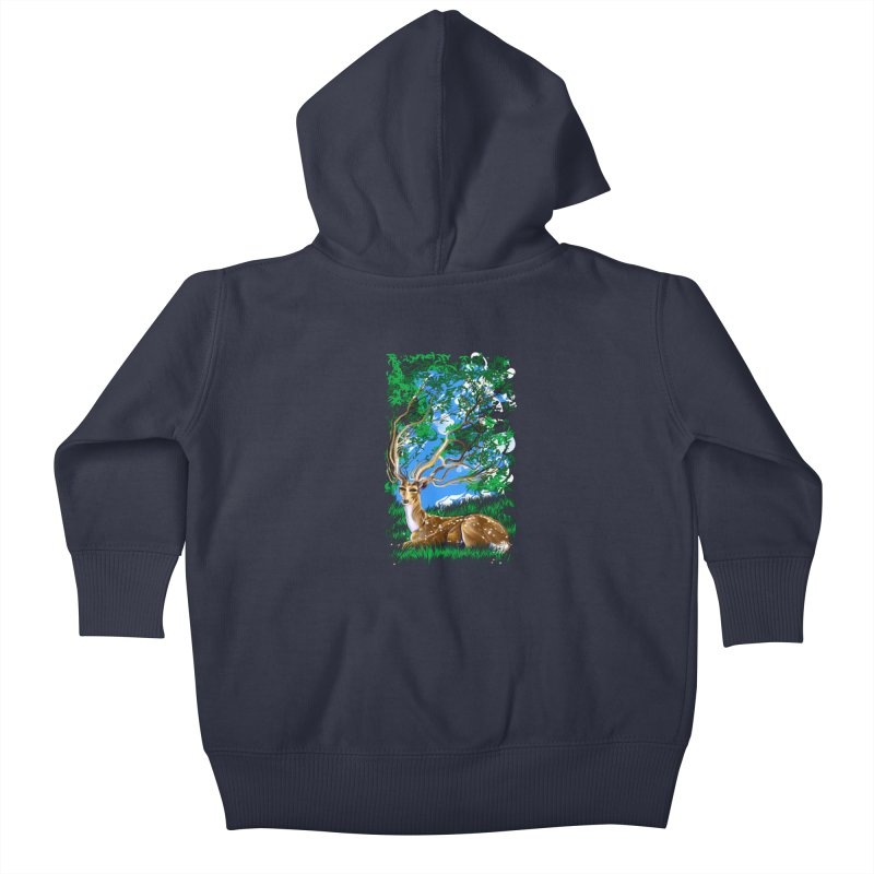 Nature Looks Back At You Kids Baby Zip-Up Hoody by Todd Powelson's Artist Shop